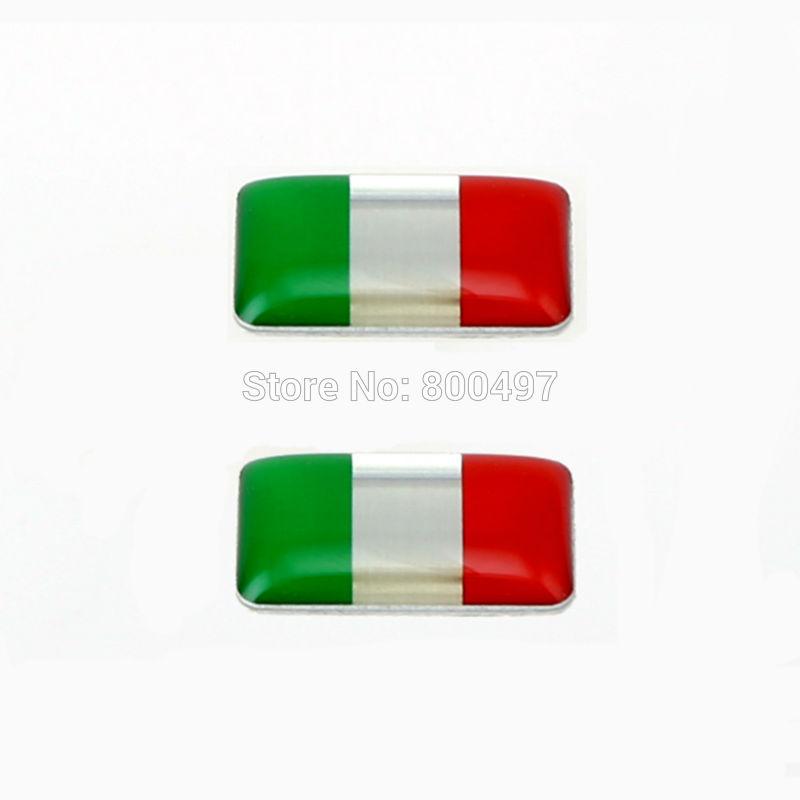 20 x más nuevo 3D Car Styling pegamento de aluminio calcomanía de California Metal pegatina de aluminio personalizado calcomanía del motor para la bandera de Italia