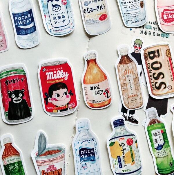 28 stks/pak handgeschilderde Japanse snacks drinken voedsel docoration planner dagboek sticker DIY Scrapbooking Album label Sticker escolar