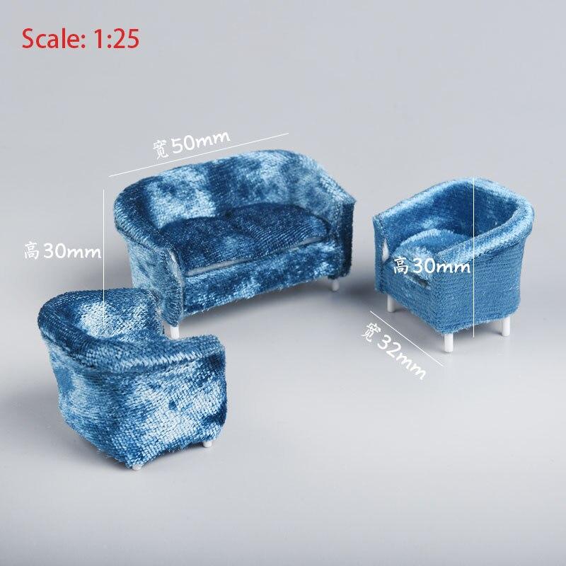 1/25 кукольный домик аксессуары миниатюрная мебель диван для влюбленных стул набор игрушек