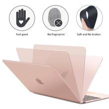 Étui givré mat pour MacBook Air 13 11 étui Retina 12 Pro 15 barre tactile A1707 Pro 16 A2141 2019 Pro 13 étui 2020 housse Funda