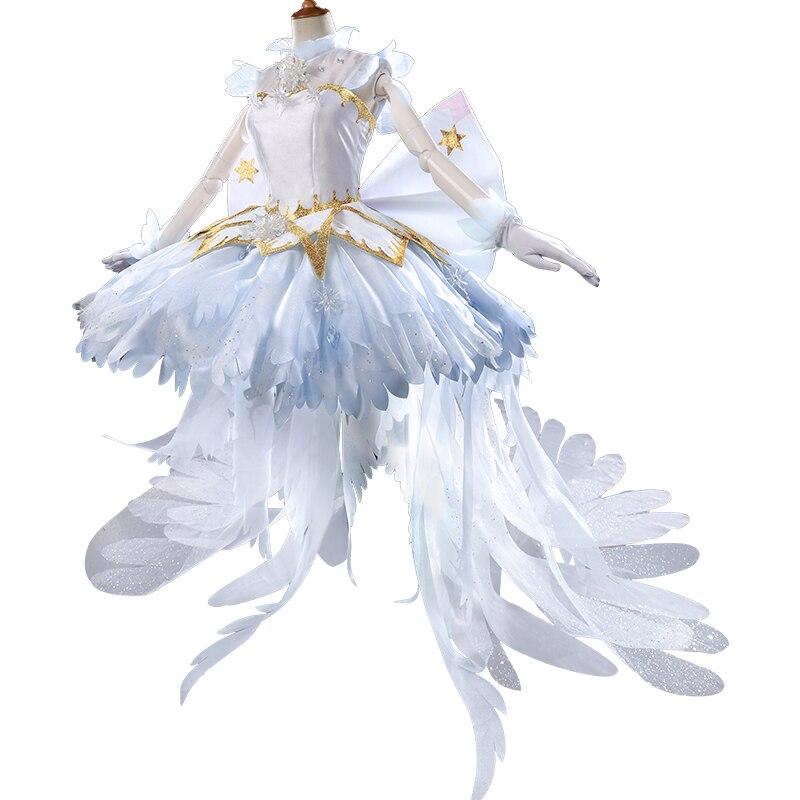 Edición de lujo COSPlAY anime japonés Sakura Cardcaptor tarjeta clara KINOMOTO vestido de Sakura Cos ropa de disfraz