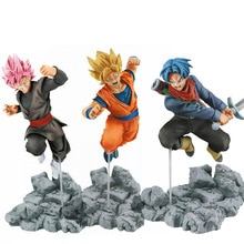 15cm figurine Dragon Ball Goku troncs PVC figurine jouets Dragon Ball Super Saiyan Rose Goku noir modèle jouets