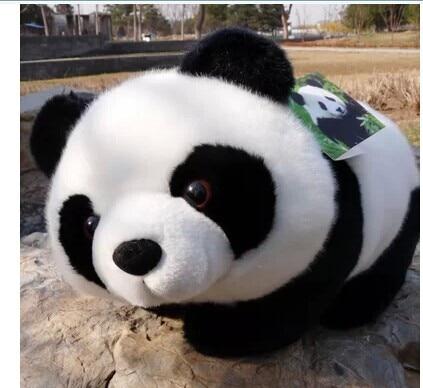 Animal relleno adorable panda 25cm propenso de la panda de peluche de juguete muñeca suave w2333