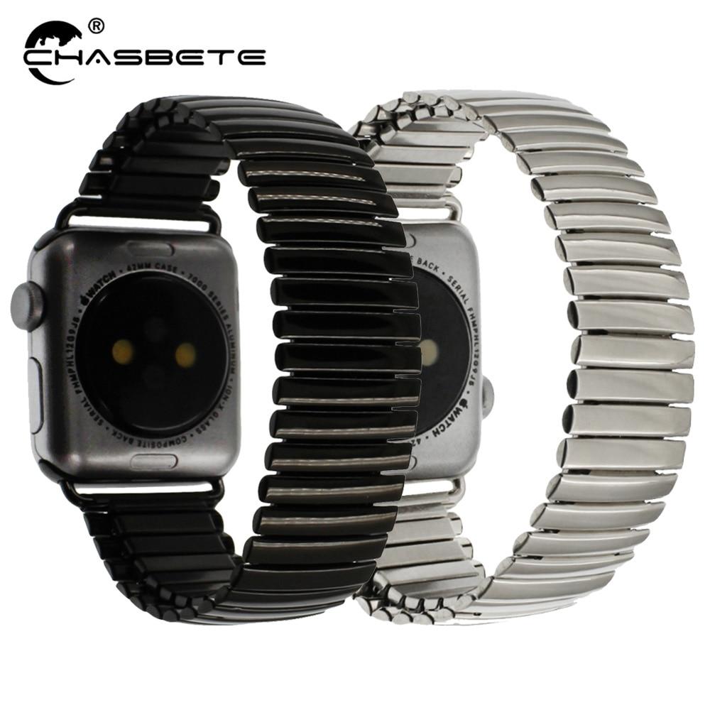 iWatch Apple Watch 38mm 42mm / Sport / Edittion Strap Series 4/3/2/1 Stainless Steel Watch Band Loop Wrist Belt Strech Bracelet