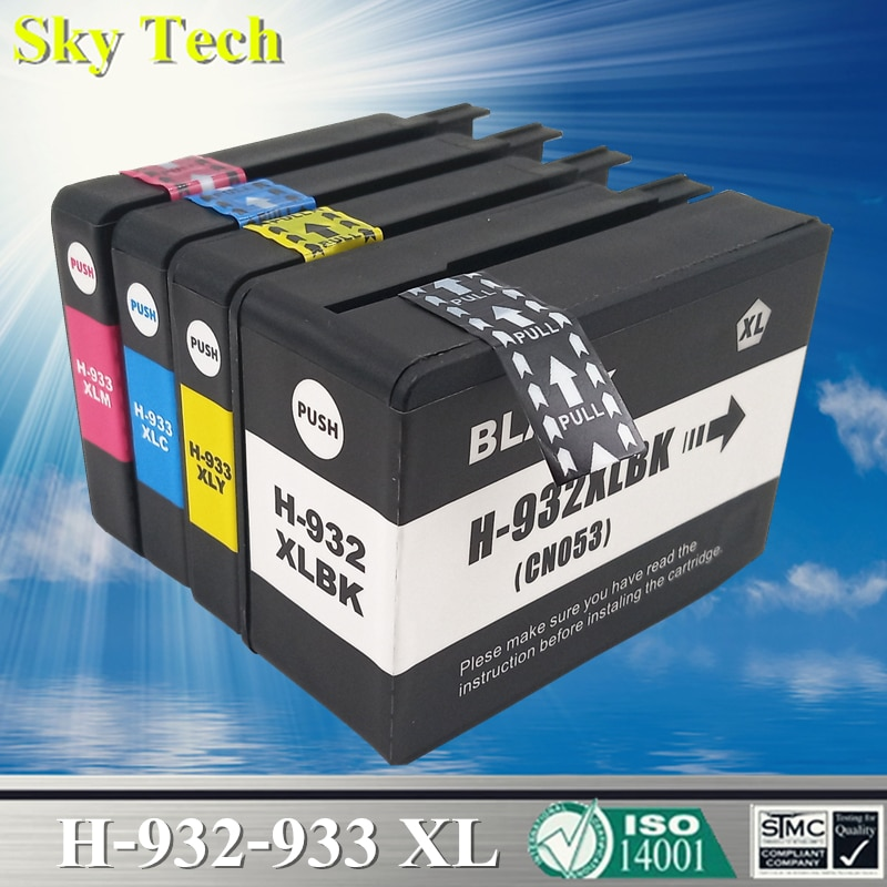 Cartucho de tinta compatível para hp932 hp933, para hp officejet 6100 / 6600 / 6700 / 7110 / 7610 / 7612 / 7510 / 7512