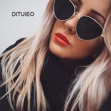 Sexy Small Vintage Cat Eye Sunglasses Women Vintage Red Black Sun Glasses Female Ladies Cateyes Sunglass 2018 Retro Glasses
