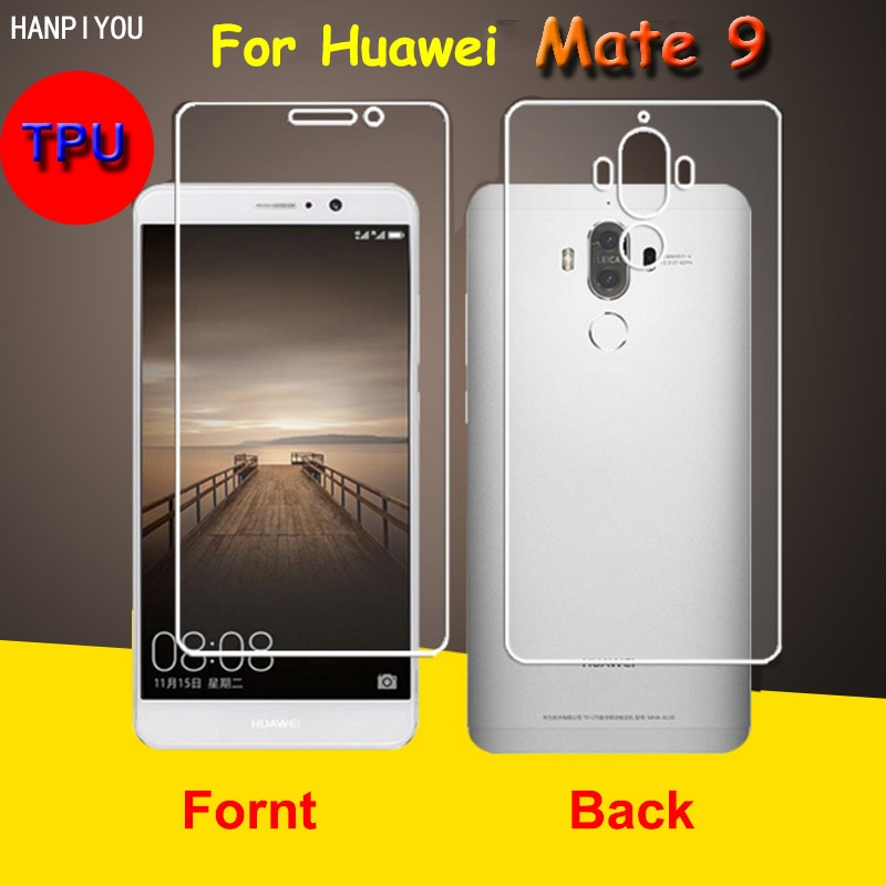 Front / Back Full Coverage Clear Soft TPU Film Screen Protector For Huawei Mate 9 Mate9 5.9