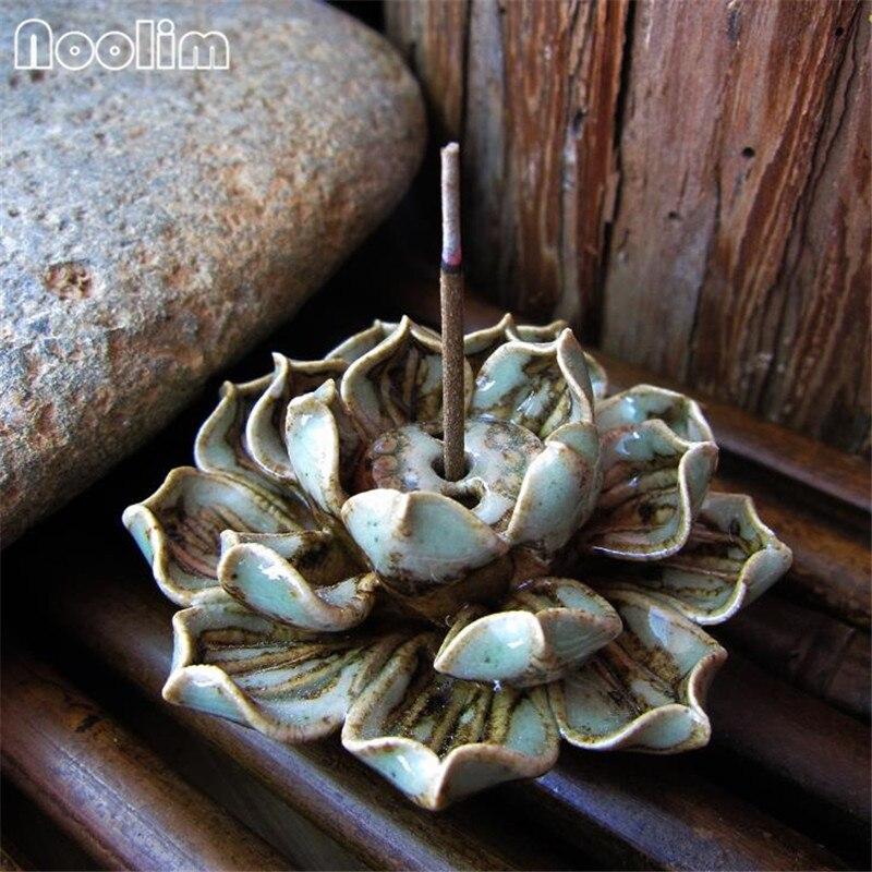 手作り蓮線香ホルダーセラミック白檀香ホルダーホーム茶屋オフィス装飾アロマ香炉