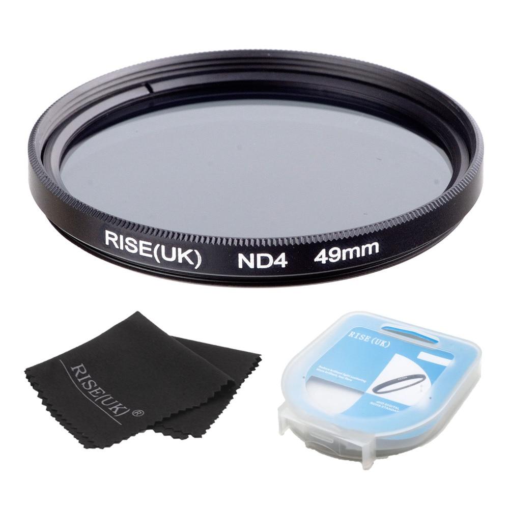 RISE (UK) 49/52/55/58/62/67/72/77mm Neutral Dichte ND4 Filter + fall + tuch für sony nikon canon alle Kamera objektiv
