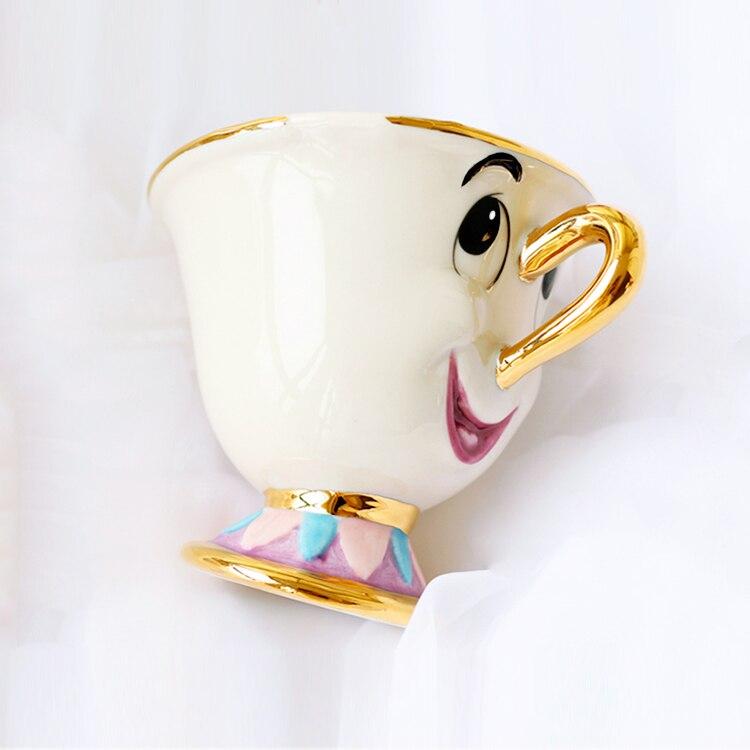 Heißer Verkauf Schönheit und das Biest Mrs Potts' sohn: Chip Tasse Tee-Set Kaffee Cartoon Becher für freund Liebhaber Geschenk
