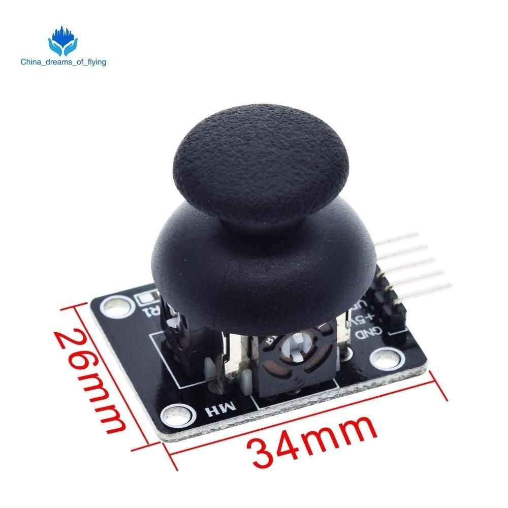 Модуль для Arduino с двухосевым XY джойстиком, высокое качество, PS2, джойстик с рычагом управления, датчик, KY-023, 4,9/5