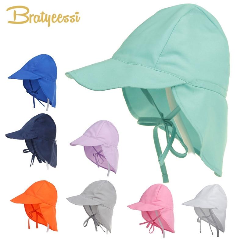 SPF 50+ Baby Sun Hat Adjustable Summer Baby Cap for Boys Travel Beach Baby Girl Hat Kids Infant Accessories Children Hats S/L