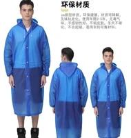 transparent adult raincoat poncho non disposable raincoat men and women thickening scrub eva raincoat