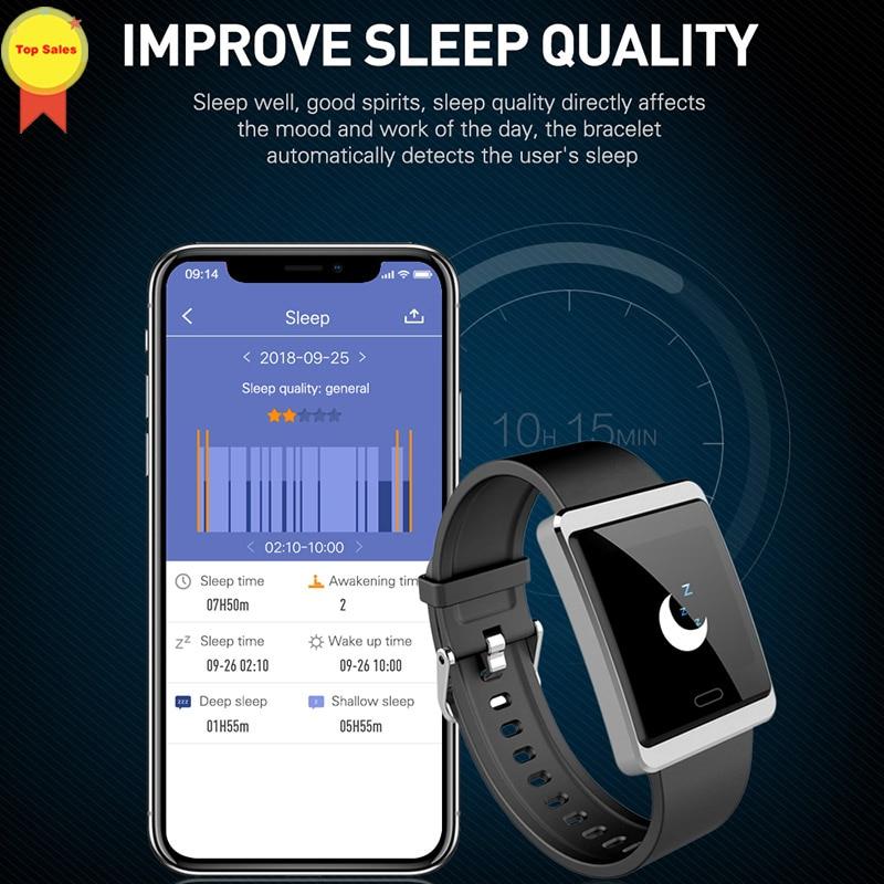 Monitor de Pressão Smartband Android Freqüência Cardíaca Arterial Informações fb Twitter Skype Push Fitness Rastreador Esporte Smartver Ios Bt4.0