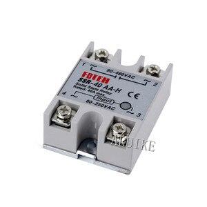Твердотельное реле SSR-40AA-H 25A на самом деле 80-250 В переменного тока до 90-480 В SSR 40AA H регулятор твердого сопротивления