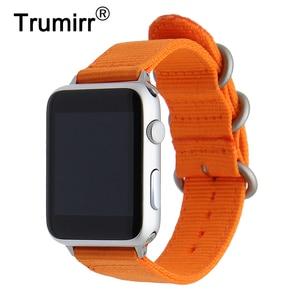 Nylon Watchband for iWatch Apple Watch 38mm 40mm 42mm 44mm Zulu Band Fabric Strap Wrist Belt Bracelet Black Blue Brown Green
