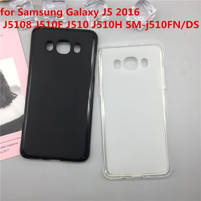 Funda de silicona blanda Para teléfono Samsung Galaxy J5 2016 J5108 J510F J510 J510H SM-j510FN/DS, Fundas de TPU de lujo, Fundas negras