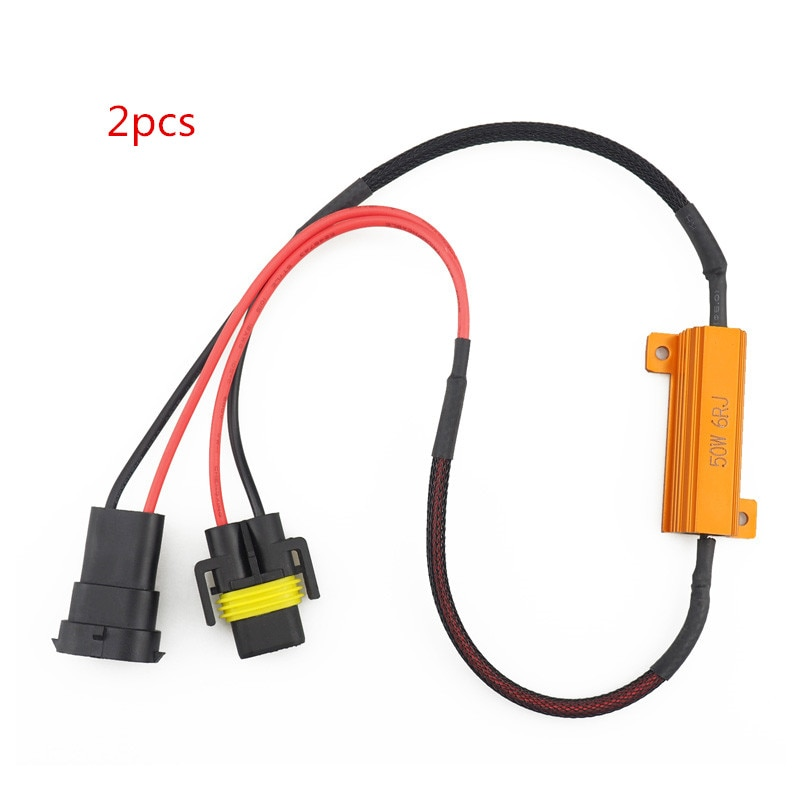 2 sztuk wolne od błędów Canbus dekoder do samochodowe światła przeciwmgielne LED H8 H11 żarówka zestawy do samochodowe lampy przeciwmgielne 9012 9005 9006 błąd ostrzeżenie Canceller