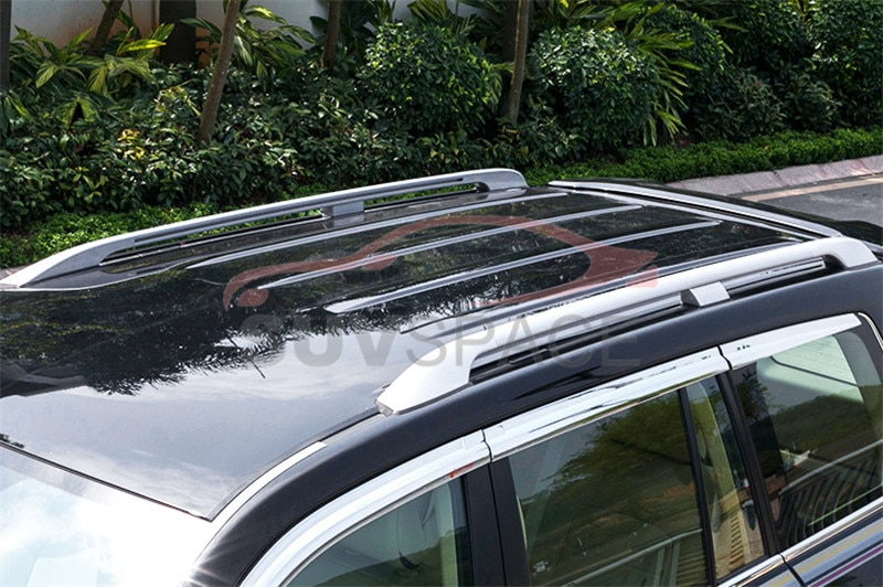 Apto para Toyota Land Cruiser FJ200 LC200 2008-2018 aluminio equipaje techo rack rail bar