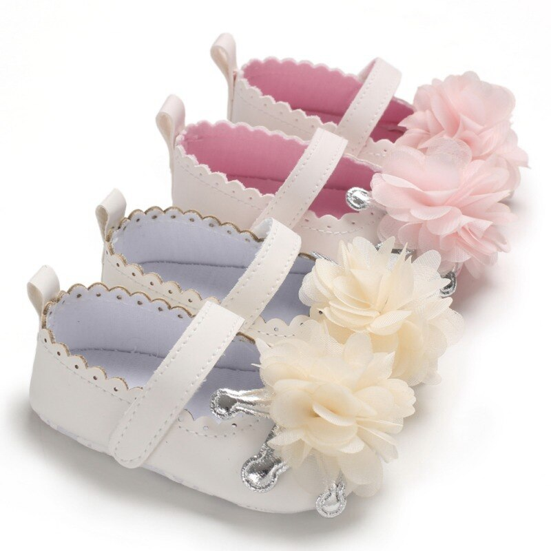 Brand PU Leather Shoes Baby Boy Girl Baby Casual Shoes Flower Fringe Soft Soled Non-slip Footwear Cr