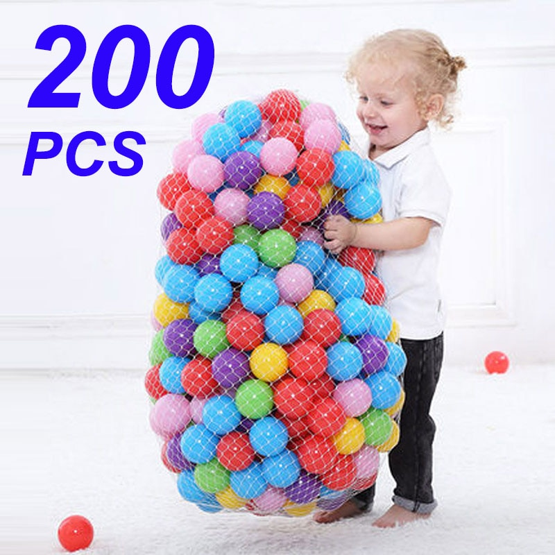 Colors Baby Plastic Balls Water Pool Ocean Wave Ball Kids Swim Pit With Basketball Hoop Play House O
