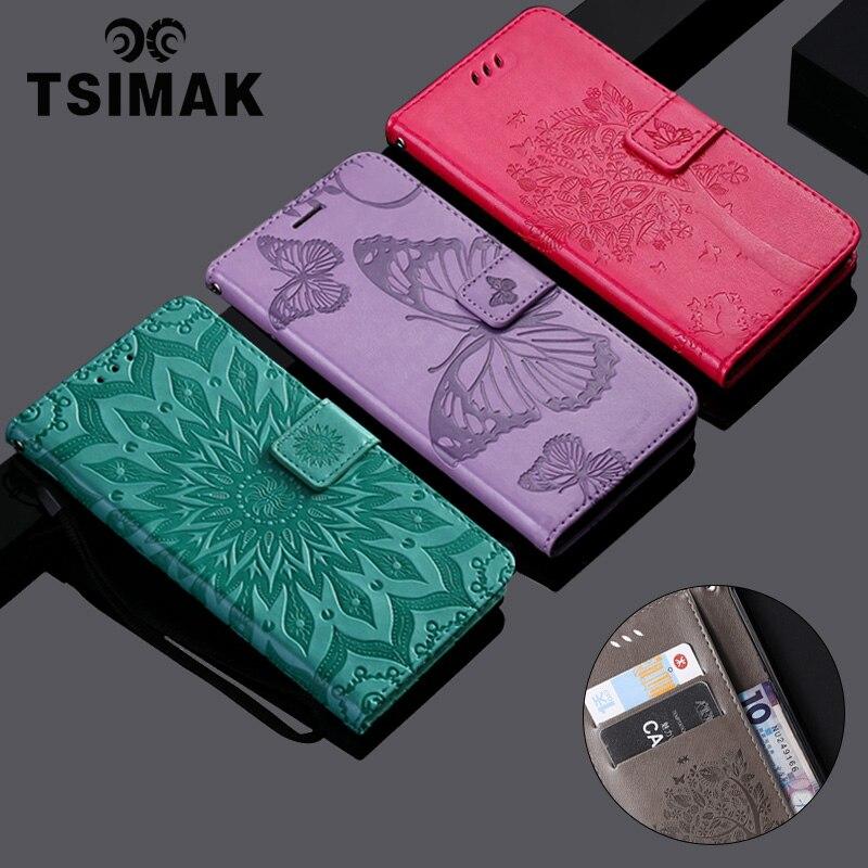 Tsimak cartera caso para Sony Xperia Z5 Mini compacto doble E5803 E5823 Flip de cuero de la PU cubierta de la caja del teléfono de la Capa Coque