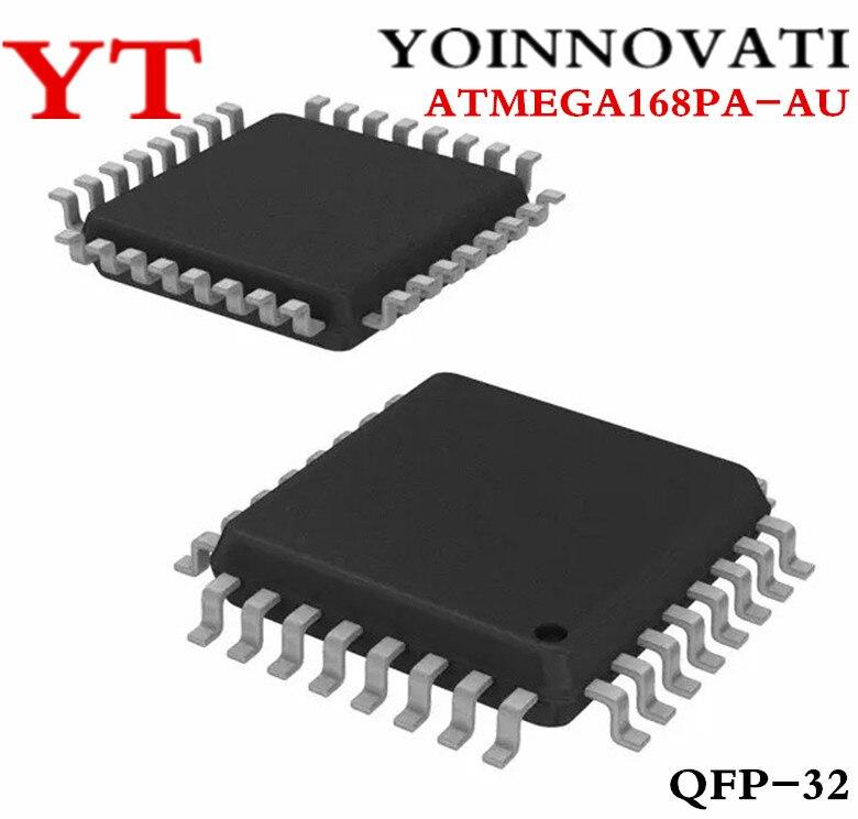10 unids/lote ATMEGA168PA-AU ATMEGA168 ATMEGA168PA MCU 8BIT 16KB FLASH de 32TQFP mejor calidad