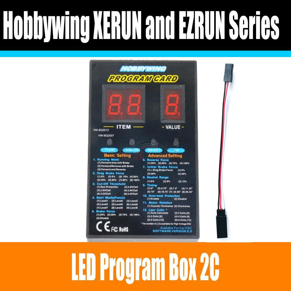 Автомобильная карта с дистанционным управлением Hobbywing, светодиодная программная коробка 2C 86020010, карта для XERUN и EZRUN, бесщеточный ESC