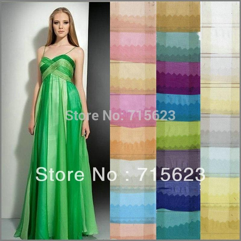 6 M/M... 140 cm 2016 Nuevo 138 color al por mayor tela de gasa de seda pura para vestido de seda falda bufanda tela de seda