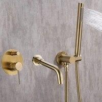 Ensemble de douche a montage sur baignoire  robinet melangeur a 2 fonctions  melangeur de remplissage de baignoire  robinets de salle de bain chaud et froid  robinet de douche  bec de bain