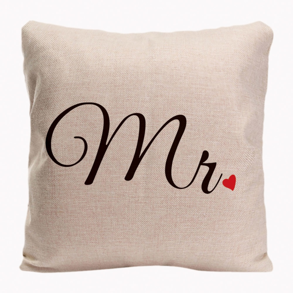 Mr. Mrs. Pillowcases Valentine's Day Anniversary Gifts & Wedding Decoration For Couples & Lover Cushion Covers