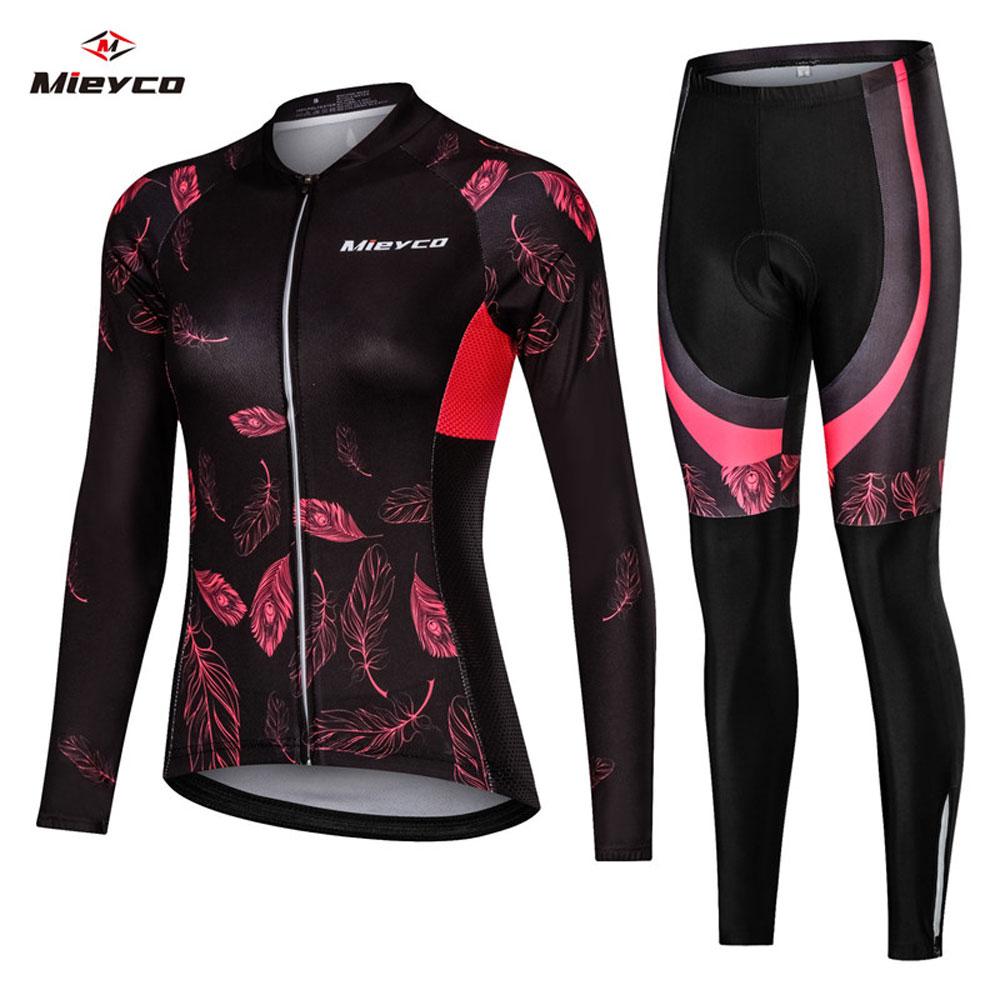 Mujer Ciclismo Jersey Mtb bicicleta Ciclismo ropa femenina manga larga camino ropa para montar bicicleta camiseta equipo Jersey diseño personalizado