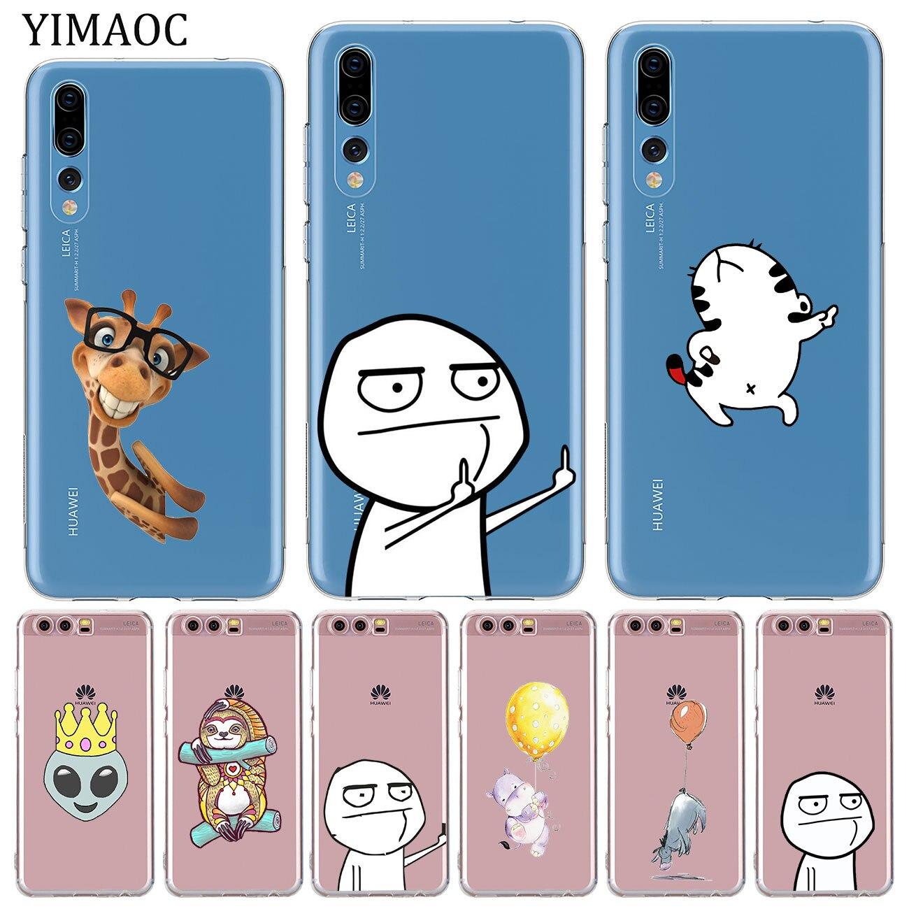 YIMAOC-funda de silicona para Huawei P30, P20 Pro, P10, P8, P9 Lite,...