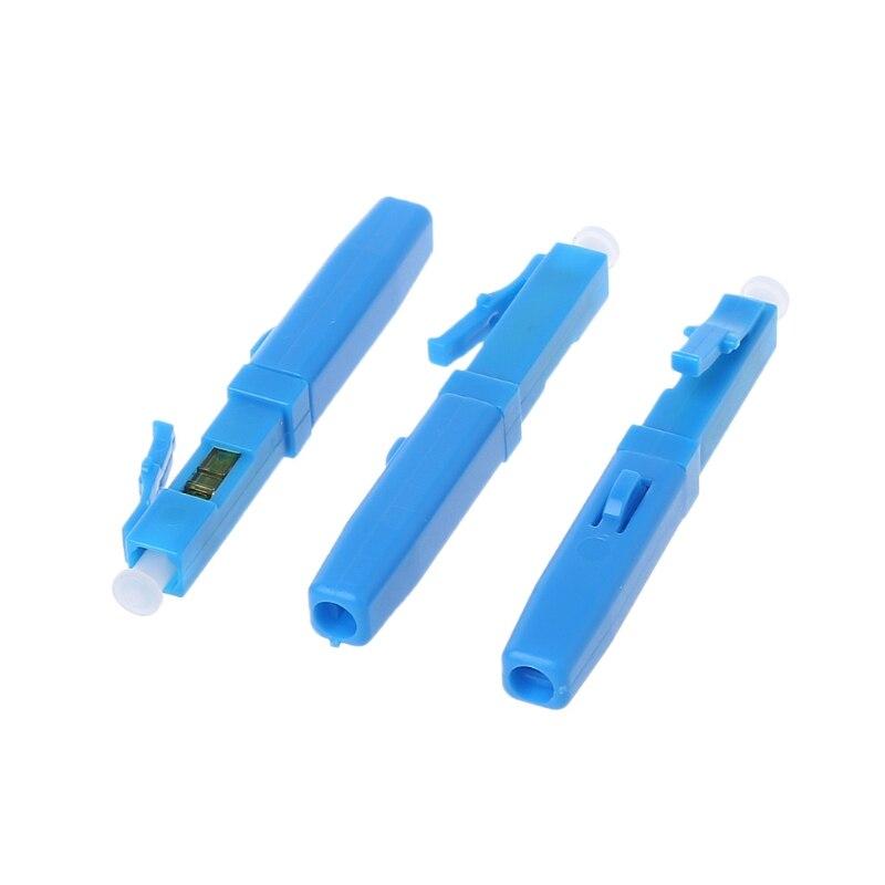 20 piezas LC UPC adaptador de conector rápido de fibra óptica para empalme en frío