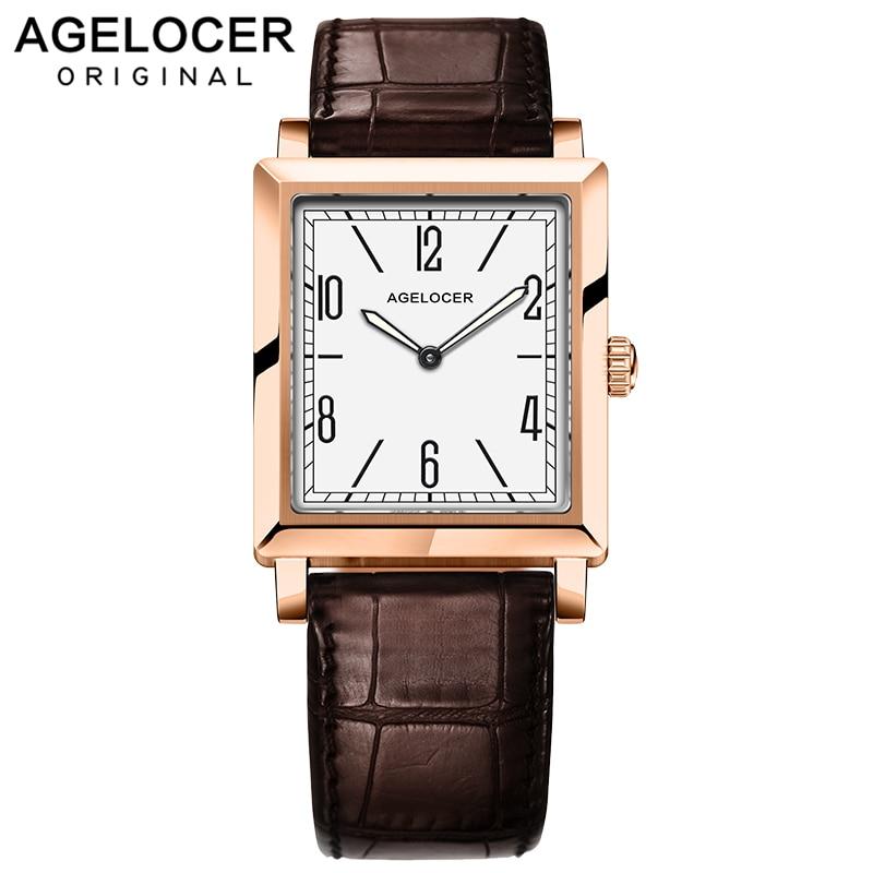 Agelocer Quartz Brand Ladies Watches Women Luxury Rose Gold Antique Casual Leather Dress Wrist watch Relogio Feminino Montre