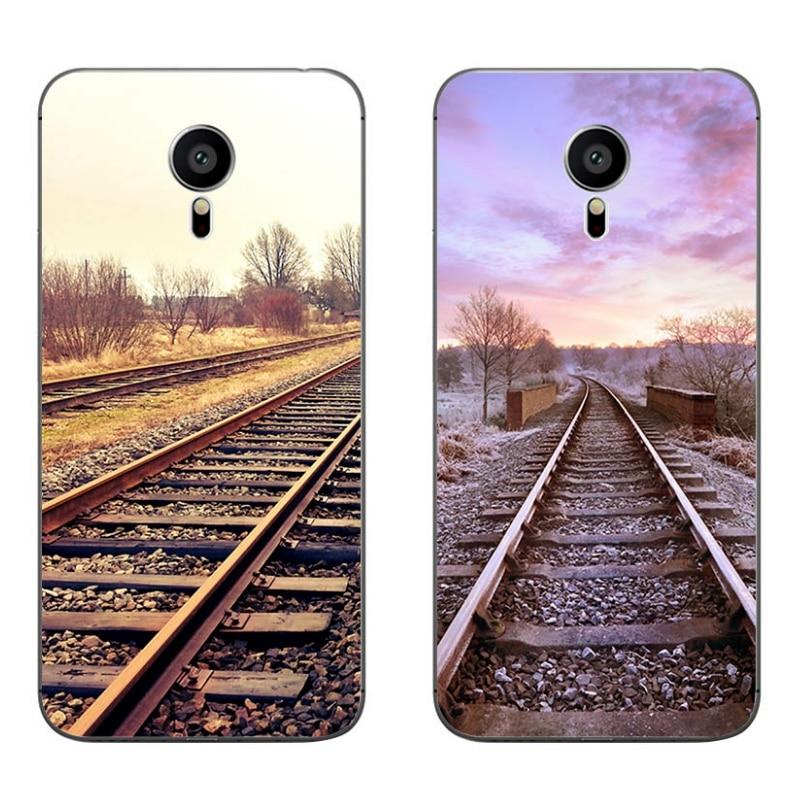 Чехол для телефона Meizu MX4 MX5 MX6 Pro 5 6, M1 M2 M3 Note MEILAN E Mini, прозрачный мягкий силиконовый чехол с узором в виде железной дороги