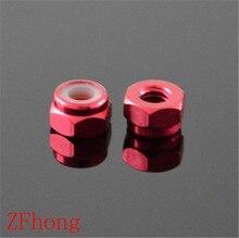 Écrou de blocage en Nylon aluminium   10 pièces M2 M3 M4 M5 couleur rouge pour Buggy RC voiture de course