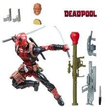 "6 ""Legends x-men Deadpool Chimichanga figuras de acción de juguete Wade Wilson Juggernaut Series arma 2 cabezas raro Original"