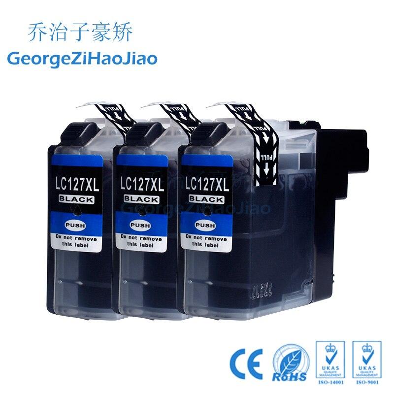 127XL 3BK LC-127 LC 127 127BK LC127XL LC125XL cartuchos de tinta compatibles para hermano MFCJ4510DW MFCJ4610DW MFCJ4710DW MFC-J4410DW