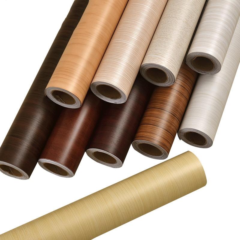 Tapiz Vintage de madera autoadhesiva, papeles tapiz decoración del hogar, rollo de papel de pared impermeable para mueble o pared, Fondo para paredes 5m