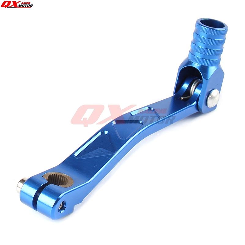Dirt Pit Bike CNC Aluminum Folding Gear Shift Lever BLUE For KAYO BSE Apollo Xmotos SSR CRF KLX 50 70 90 110 125 140 150 160 cc