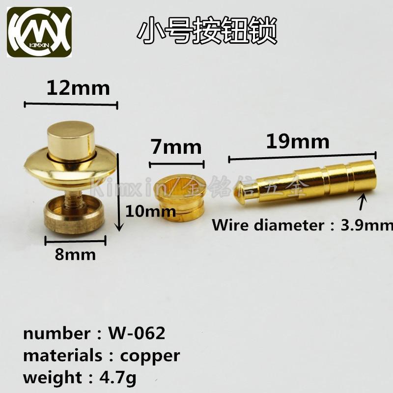 10pc/lot In stock Copper material dark lock button lock Wooden box hardware accessories Box Lock watch box stretch lock W-062