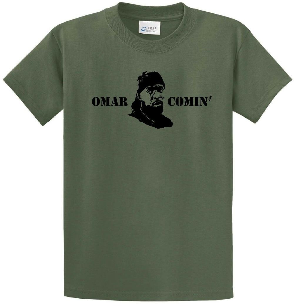 Camiseta de manga corta con Logo pequeño Omar coming Omar, ropa urbana personalizada para hombres 2019, camisetas divertidas de algodón