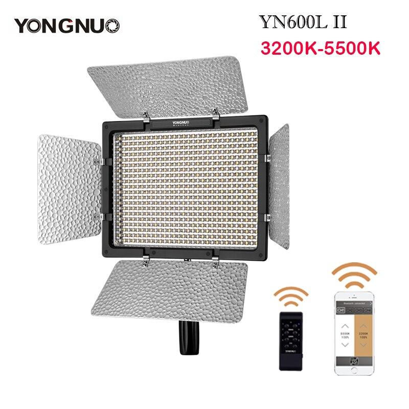YONGNUO YN600 YN600L II 3200 k-5500 K II 600 vídeo LEVOU Painel de Luz 2.4G Controle Remoto Sem Fio por Telefone App para Entrevista