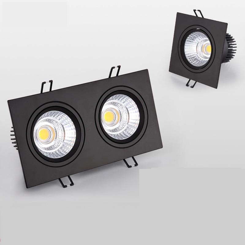 LED cuadrado COB Downlight regulable AC110V/220 V 10W 20W 30W empotrado Led lámpara de techo bombillas de iluminación interior