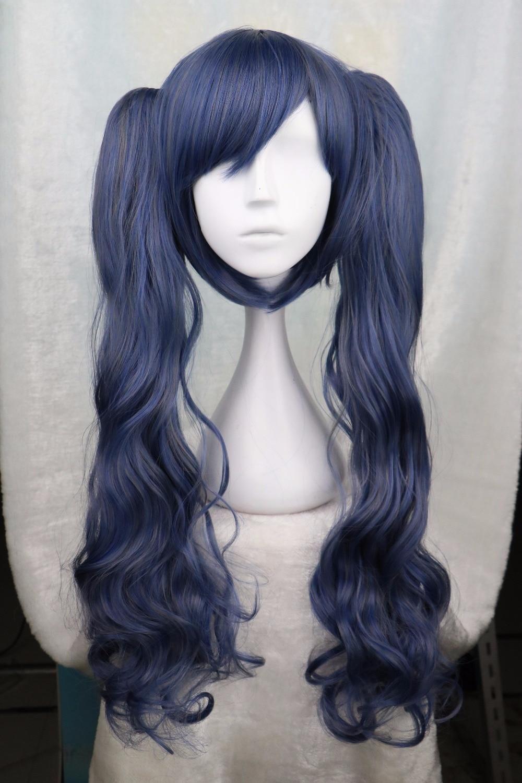 Negro Butler Kuroshitsuji Ciel Phantomhive Cross-dressing chica oscuro peluca azul cosplay