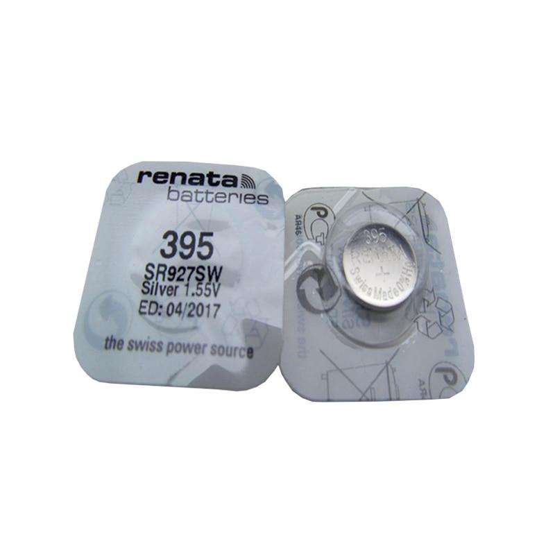 RENATA 2pc óxido de plata reloj 395 SR927SW 927 1,55 V 100% 395 Renata 927 batería