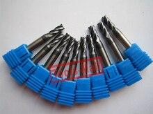 5mm D5 * 25 * D6 * 75 4 Flautas Square Final moinhos HRC60 Plana Fresagem CNC cortadores de Espiral carboneto de cortador de Router bits ferramentas CNC