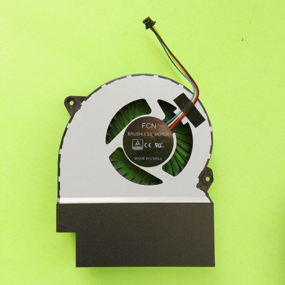 Nieuwe Originele laptop/notebook GPU Koelventilator Voor Asus ROG Strix S7ZC GL702ZC DFS2013124P0T-FK0V DC12V 1A