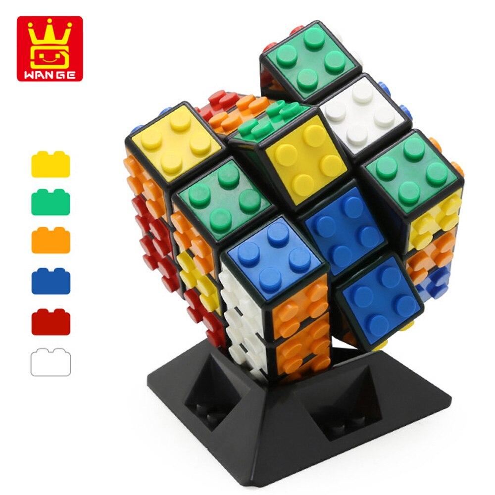 Juguetes WANGE partículas grandes Cubo de 3x3x3 6CM cubo mágico competencia profesional Speed cubo rompecabezas bloques cubo juguete educativo para los niños adultos regalo
